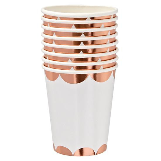 Rose Gold Scalloped Cup