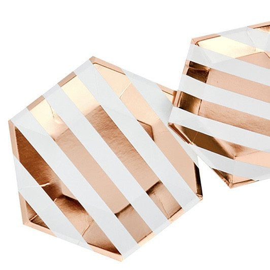Rose Gold Stripe Small Plate