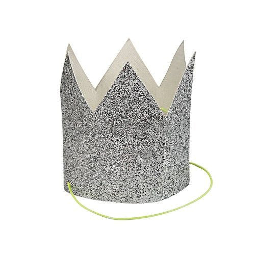 Silver Glittered Crown