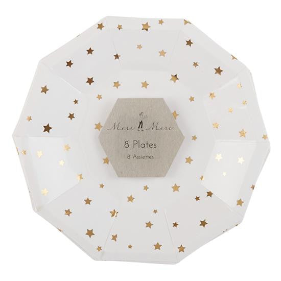 Toot Sweet Gold Star Plate