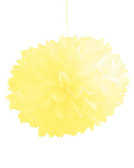 Tissue Pom Poms :: Yellow