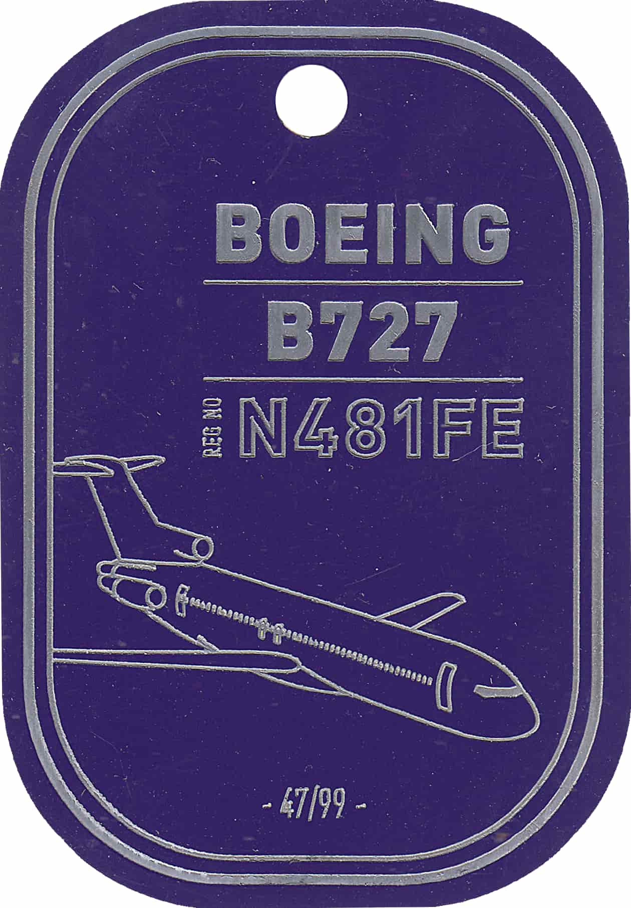 Boeing 727 - Fedex - Purple