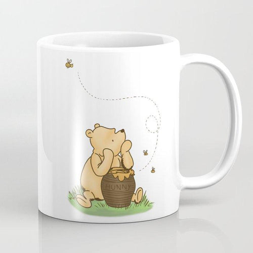 Classic Pooh With Honey - No background Coffee Mug