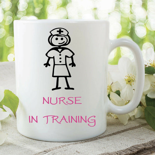 Coffee Mug With Design Printed Nurse Is Training Funny Joke Design