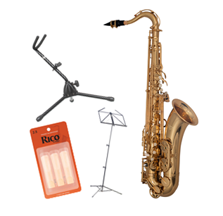 Elkhart 100TS Tenor Saxophone - Package