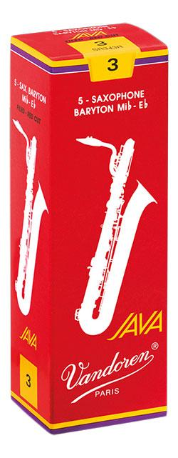 Vandoren JAVA - RED - Baritone Sax Reeds - Box of 5-2