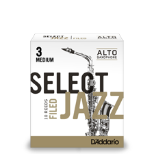 D'Addario Select Jazz - Alto Saxophone Reeds - Box of 10-Filed-2Hard