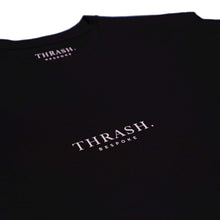Load image into Gallery viewer, Black Thrash Bespoke Small Logo tee