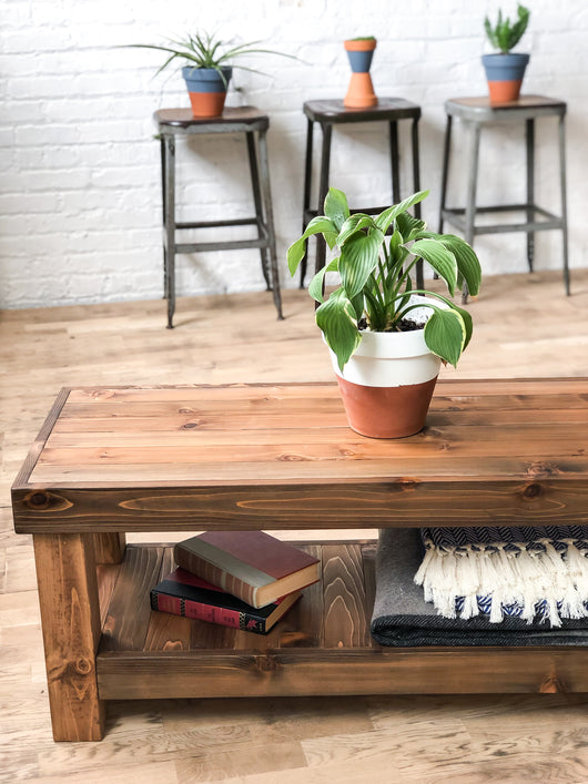 The Standard Coffee Table - Rustic Modern Americana - Solid Wood - Hand Made in Chicago, USA