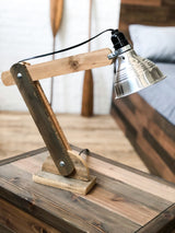 The Woodsman Architect Lamp - Rustic Modern Industrial Lighting - Handmade in USA