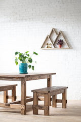The Gather - Rustic Farm Style Table and Farm Bench - Handmade in USA
