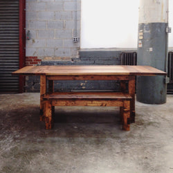 The Gather - Rustic Farm Style Table and Farm Bench