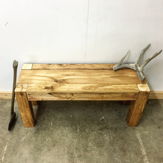 The Winifred Bench - Rustic Modern - Handmade in USA