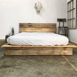 Ol' Weathered Low Pro Bed - Handmade in USA