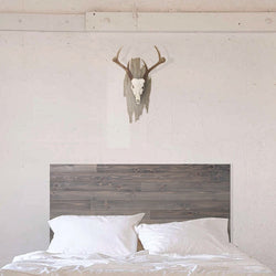 The Deadwood - Gray Washed Barn Wood Style Headboard - Handmade in USA