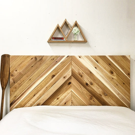 The Long Canyon All Natural Rustic Chevron Headboard - Organic - Handmade in USA