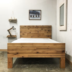 Alpine Sleigh Platform Bed Frame and Headboard - Handmade in USA