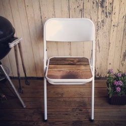 Chair Americana - Metal & Barn Wood Style Outdoor or Indoor Chair - Handmade in USA