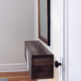 Rustic Modern Floating Entry Table / Wide Drawer - Made in USA
