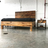 The Homestead Bed - Rustic Barnwood Reclaimed Bed - Repurposed Timber - Handmade in USA
