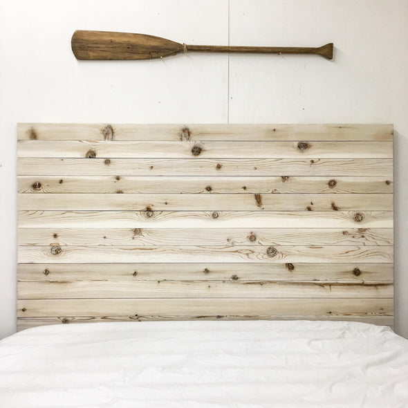 Rustic Beach Wood / Whitewashed Barn Wood Style Headboard - Handmade in USA