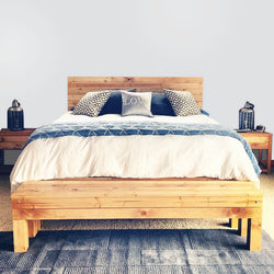 The Northwoods Bed - Rustic Knotty Pine - Handmade in USA