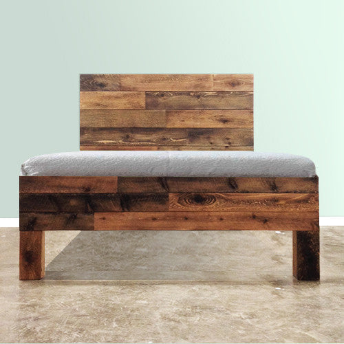Rustic Barnwood Rough Sawn Homesteaders Headboard Urban