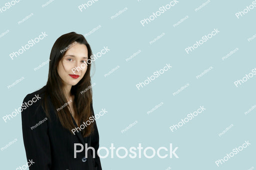 Long haired woman in black blazer