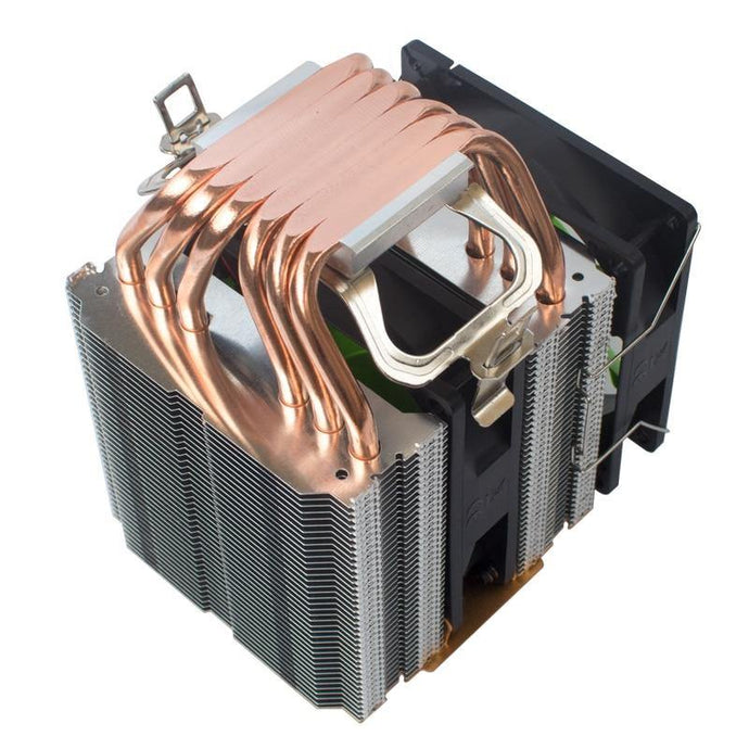 High quality CPU cooler 115X 2011 6 heatpipe dual-tower cooling 9cm fan support for Intel for AMD X79 X99 X58 Ryzen cooling - Mining Heaven