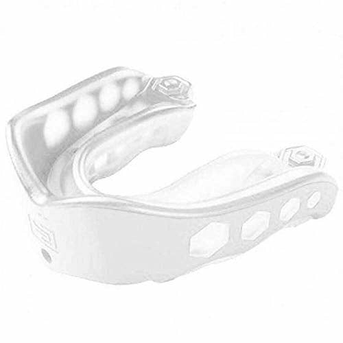 Shock Doctor Kids Gel Max Mouth Guard-Transparent Clear, White, Adult, Like New
