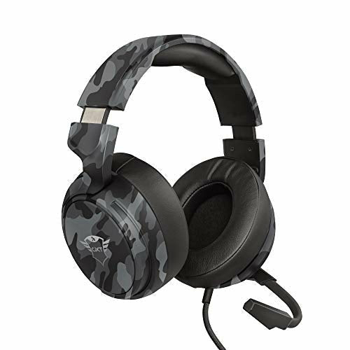Trust Gaming Headset GXT 433K Pylo with Microphone, Fold Away Mic, Braided Cable, 50 mm Driver Units, Adjustable Headband - Camo Black [Amazon Exclusive] - Very Good