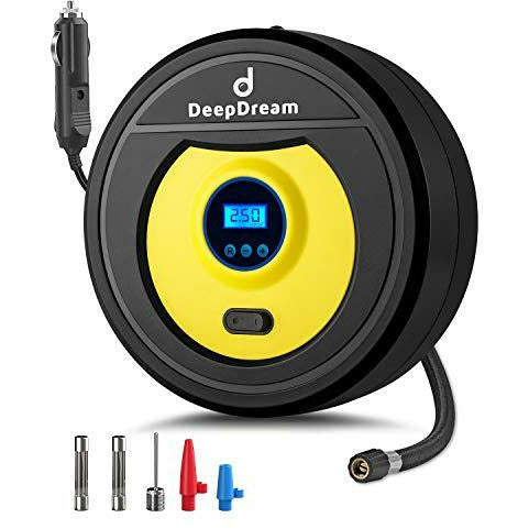 DeepDream Tyre Inflator Digital 12V 150PSI Auto Car Tyre Pump Portable Air Compressor with 35L/Min Air Flow and LED Light - Like New