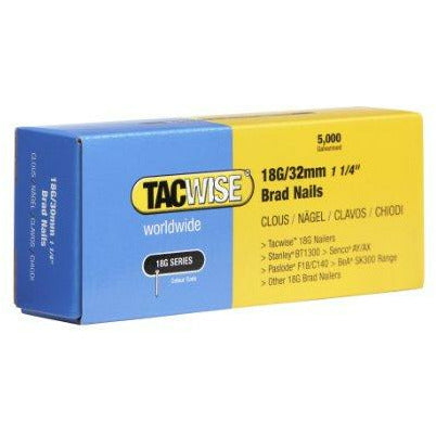 18G Brad Nails 32mm by Tacwise - Box of 5000