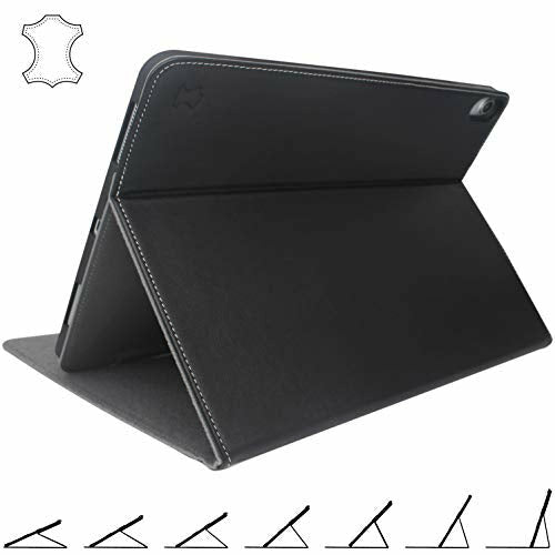 iPad Pro 12.9 Case 2018 Genuine Leather - With Apple Pencil Magnetic Attachment - For 3rd Gen 2018/2019 12.9-Inch Model, Good