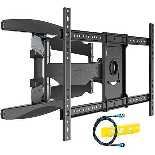 Invision Ultra Strong TV Wall Bracket Mount Double Arm Tilt & Swivel for 37-70 Inch (94-178cm) LED LCD OLED Plasma & Curved Screens - Up to VESA 600mm(w) x 400mm(h) - Max Load 50kg (HDTV-DXL) - Like New
