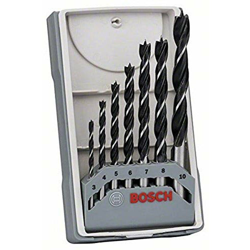 Bosch 2607017034 Professional 7-Piece Robust Line Brad Point Drill Bit Set (for Wood, Accessories for Drill Drivers) , Black/Silver , 45cm x 40cm x 25cm - Good