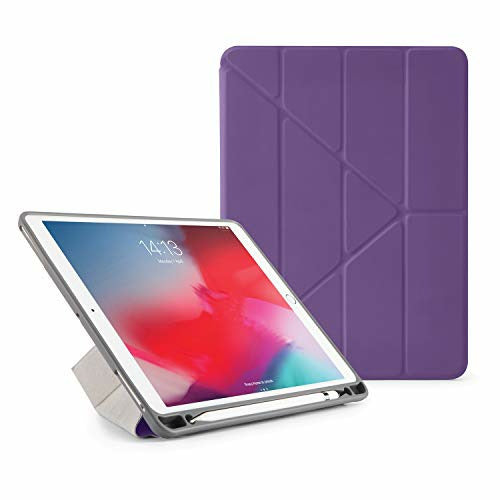Pipetto iPad Air 3 / Pro 10.5 Case - Shockproof TPU Origami 5-in-1 Smart Cover Apple Pencil Sync & Charge - Purple, Very Good