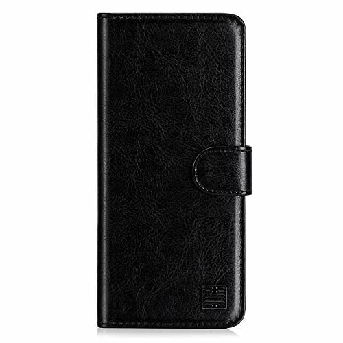 32nd Book Wallet PU Leather Flip Case Cover For Sony Xperia L4, Design With Card Slot and Magnetic Closure - Black - Brand New