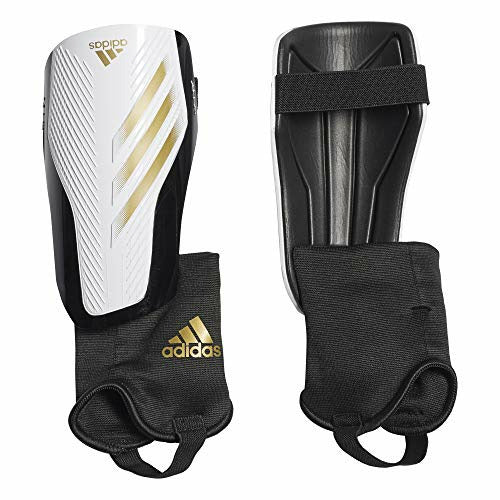 Adidas Adult X 20 Match Shin Guards, White / Gold Met./Black, L, Like New