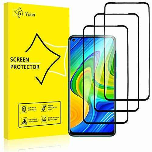 GiiYoon-3 PACK Screen Protector for Xiaomi Redmi Note 9, Open Box