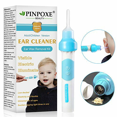 Ear Wax Remover, Ear Cleaner, Ear Wax Cleaner, 2 Removable Silicone Tips for Infants, Babies, Teenagers Adults - Very Good