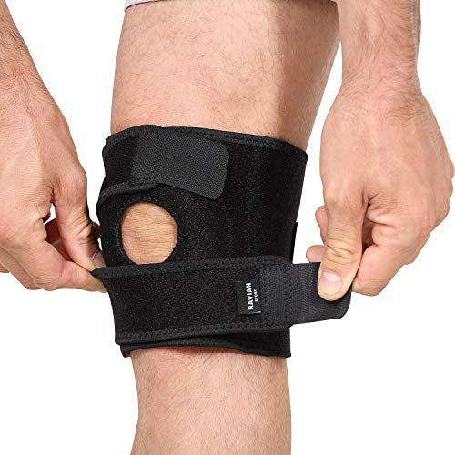 Ravian Knee Supports, Open Patella Adjustable & Stabilizer Knee Brace for Knee Pain, Arthritis Pain Relief, Meniscus Tear, Compression Bandage for Men and Women, Like New