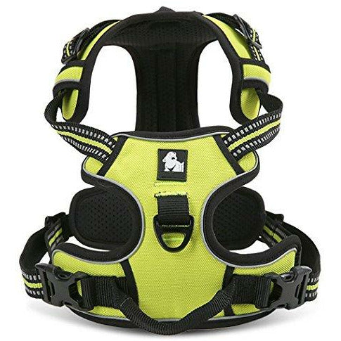 Kismaple Adjustable 3M Refletive Dog Harness, Soft Padded No Pull Outdoor Training/Walking Pet Vest with Handle, Chest Vest Harness for Large Big Dogs (XL (81-107cm), Green) - Very Good