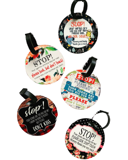 Lindsay's Creations, Double Sided Stroller Tags