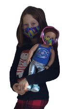 "Load image into Gallery viewer, Lillabean, 18"" Doll Masks"