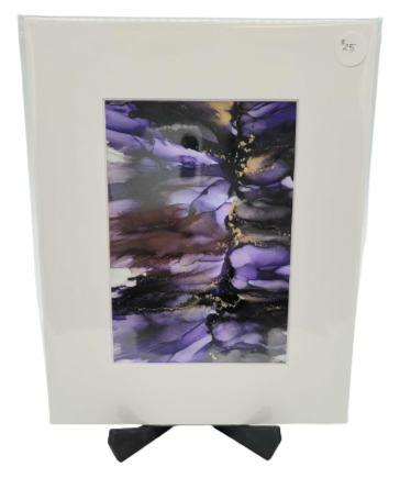 Tonic for the Soul, Matted Alcohol Ink Paintings