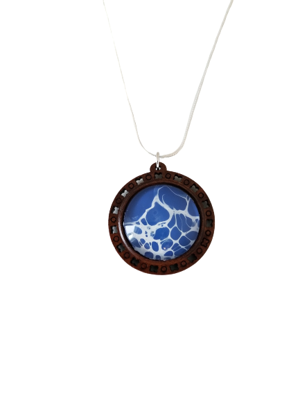 Tonic for the Soul, Large Wood Resin Pendant