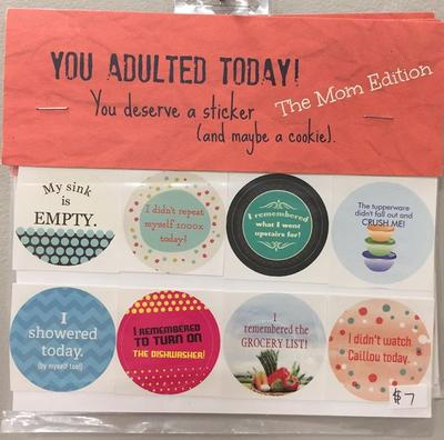 Peanut Parade, Adulting Sticker Sets
