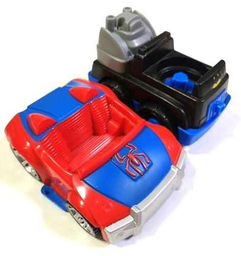SUPERHERO CAR TOY SET OF 2 VGUC