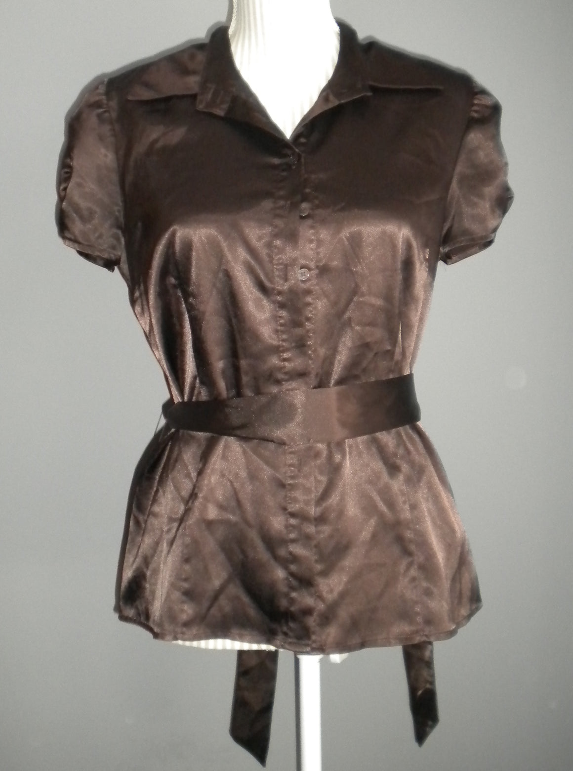 APT 9 STRETCH TOP BROWN LADIES MEDIUM